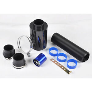 Vi 2 75 Air Intake Carbon Fiber Filter Turbo Flexible Ducting Hose Fan Kit Set