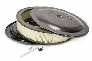 Moroso 14x3 Air Cleaner Kit W raised Bottom Black 65912