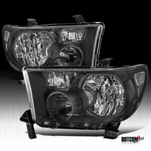 Fit Toyota 2007 2013 Tundra 2008 2017 Sequoia Black Diamond Headlights