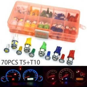 70x T5 T10 Led Car Instrument Panel Cluster Dash Indicator Light Bulbs Kits