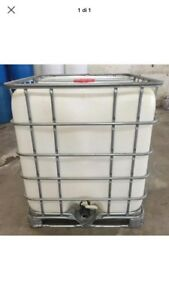 Pick Up Only 275 Gallon Ibc Tote Food Grad Plastic Storage Water Cont Poly Tank