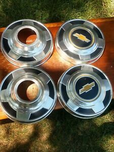 Chevrolet Truck Dog Dish Hubcaps 1 2 Ton 4x4 Manual Hub X 4