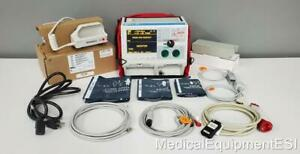 Zoll M Series Biphasic 3 Lead Ecg Spo2 Nibp Analyze Als With Case New Paddles