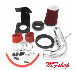 Red For 2011 2018 Ford Explorer 3 5l V6 Non turbo Heat Shield Cold Air Intake