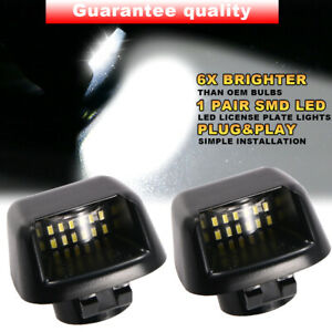 2x Led License Plate Light Lamp Housing For Nissan Frontier Armada Titan Xterra