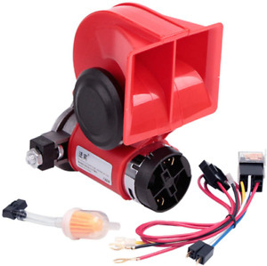 Compact Air Horn With Compressor Snail Electric Car Horn 12v 150db Super Loud