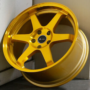 18x9 5 Candy Gold Wheels Vors Tr37 5x120 35 Set Of 4 73 1