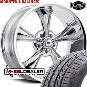 20 Inch Ridler 695 Chrome Wheels Tires For Chevy Gmc C10 Cheyenne Truck Swb Lwb