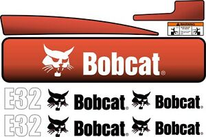 Bobcat E32 Excavator Aftermarket Decal Kit Very High Quality