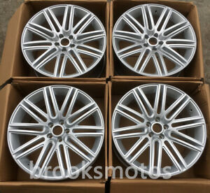 21 Silver Style Wheels Rims Fits For Bentley Continental Gt 21x9 5 Offset41
