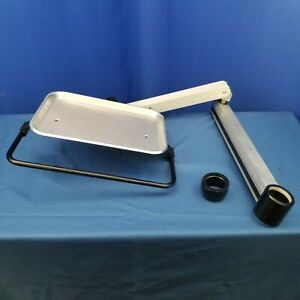 Dental Stainless Steel Utility Accessory Tray With Instrument Bar Post Mount
