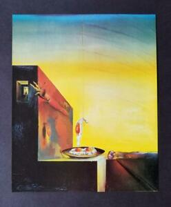Salvador Dali fried Eggs Without The Plate Mounted Offset Lithograph 1980