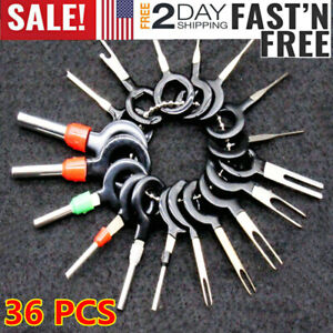 36x Car Wire Terminal Removal Tool Kit Wiring Connector Pin Extractor Puller Set