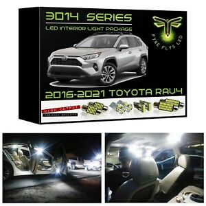 White Led Interior Lights Kit Package For 2016 2020 Toyota Rav4 3014 Smd tool