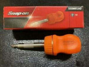 Snap On New Stubby Orange Ratcheting Screwdriver Ssdmr1ao Free Shipping