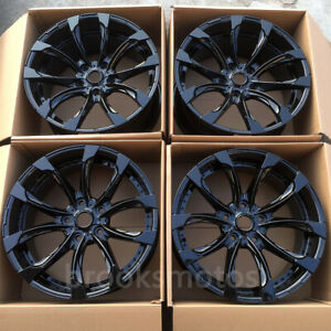 24 W Style Gloss Black Wheels Rims Fit For Land Cruiser Lexus Lx570 5x150 24x10