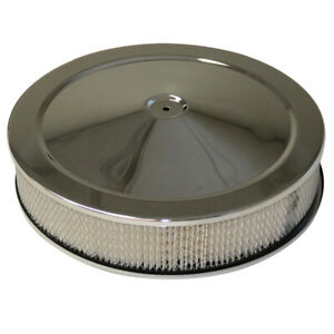 14 Low Profile Air Cleaner 14 X 3 5 1 8 Neck Chrome