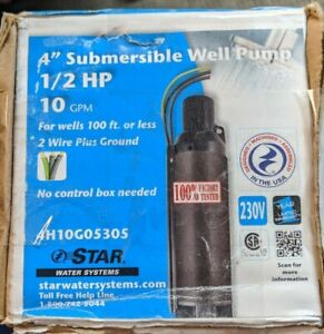 Star Water Systems 1 2hp 10gpm 4 Submersible Well Pump 4h10g05305 Brand New