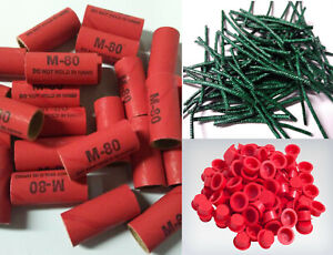 Pyro Tube Supplies Stamped M80 9 16 X 1 1 2 With Plastic Plugs 25 50