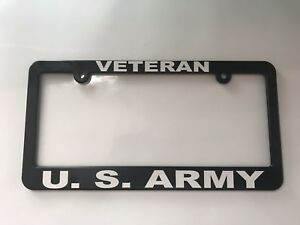 Veteran Us Army License Plate Frame New