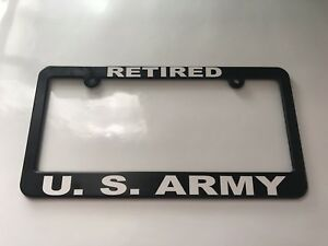 Retired Us Army License Plate Frame New