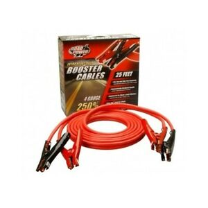 25 Heavy Duty Booster Cables 4 Gauge Car Truck Battery Starter Jumper Cable