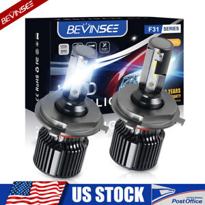Bevinsee 9003 H4 Csp Led Headlight Conversion Kit 6000k Bright Hi low Beam Bulbs