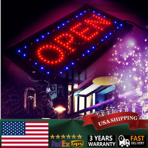 Bright Led 2 1 Open Closed Store Shop Business Sign 9 8 20 47 Display Neon Ce
