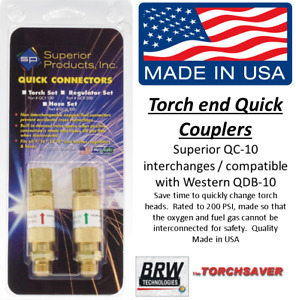 Quick Connect Torch To Hose Superior Qc 10 Interchange With Western Qdb 10