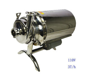 304 Food Grade Stainless Steel Centrifugal Pump Sanitary Beverage 110v 3t h