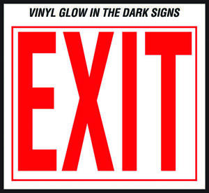 Hy ko Ee Glow In The Dark Safety Sign Exit 10 In W X 12 In L