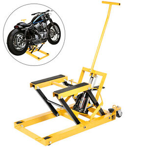 1500lbs Hydraulic Motorcycle Jack Lift Dirt Street Bike Atv Quad Hoist Stand
