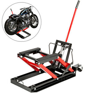 1700lbs Hydraulic Motorcycle Jack Lift Dirt Street Bike Atv Quad Hoist Stand
