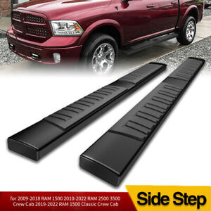 6 Running Boards For 2009 2018 Dodge Ram 1500 Crew Cab Nerf Bars Side Steps Blk