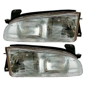 For Geo Prizm 1993 1994 1995 1996 1997 Pair Left Right Headlight Assembly Tcp
