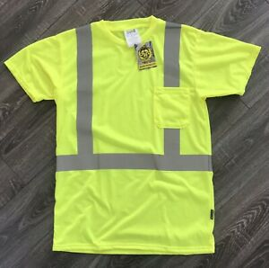 Occunomix Yellow Class 2 Reflective Mesh Safety Shirt W Pocket Size M Lot Of 6