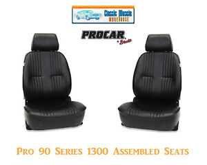 Pro 90 Series Bucket Seats Procar 80 1300 51 Black Vinyl 1975 1981 Camaro