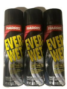 3 Harris Ever wet Spray Tire Shine Cans 13oz Each Shines And Protect free Ship