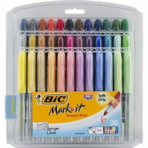 Bic Mark it Fine Point Permanent Markers 36 pkg Assorted Colors 070330331129