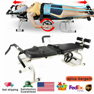Therapy Massage Table Cervical Spine Lumbar Stretching Device Traction Bed Top