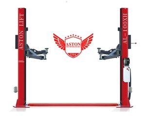 10 000lbs Two Post Auto Lift Single Point Lock Release 2 Post Auto Car Lift