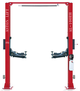 10 000 Lbs 2 Post Lift Single Point Lock Release Two Post Auto Car Lift