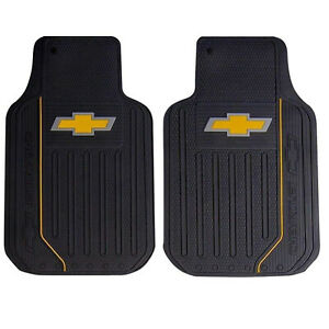 2 Pc New Chevy Elite Front Rubber Heavy Duty Floor Mats Car Truck
