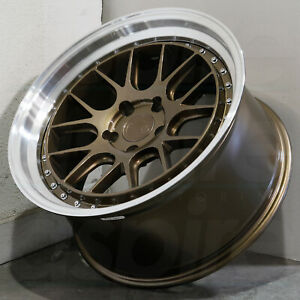 18x8 5 Bronze Wheels Aodhan Ds06 Ds6 5x100 35 set Of 4 73 1