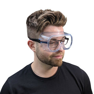 1 1000pcs Clear Protective Safety Glasses Eye Protection Anti fog Goggles