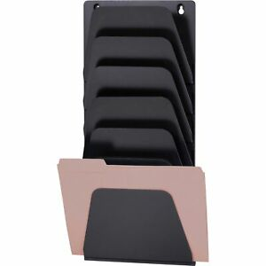 Officemate Oic Wall File Holder Letter legal 7 Pockets Black 21505