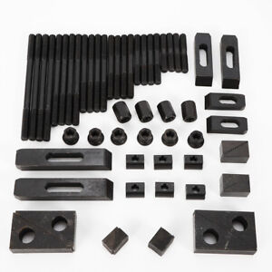 New 58pcs Clamping Nuts Step Block Tee Nuts Set For Drilling Milling Machine Cnc
