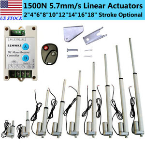 1500n Electric Linear Actuator 330 Pound Max Lift Heavy Duty Output 12v Dc Motor