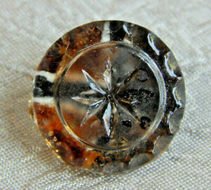 Antique Button Clear Glass Kaleidoscope Aprx 5 8 219 F