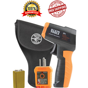 Klein Tools Digital Infrared Thermometer Surface Gfci Receptacle Tester Ir1kit